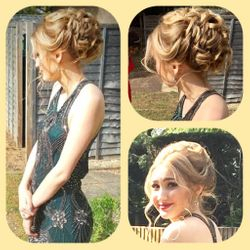 Beautiful hair up for 2017