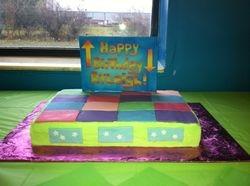 Dance stage birthday cake