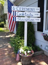 Set of 3 directional wedding signs