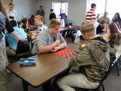 Checkers competition at Convention