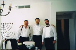 With Salvatore & Diego, Fort Lauderdale, Florida, 2001