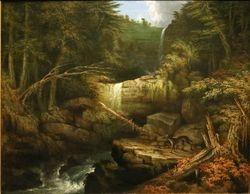 Ward, Wolf in a Glen (Kaaterskill Falls), c1833, Hartford