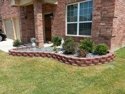 Stone flowerbed - Grand Prairie, TX