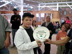 Aaron Fulenwider shows us his showmanship plate