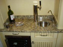 Custom Wet Bar Sink & Beer Tap