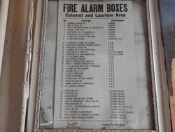 Calumet area Fire Alarm Box locations