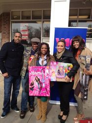 "A Friend, Satchel, Kandi Burruss, Egypt & Demetria McKinney At ""Egypt's Give Back Tour"""