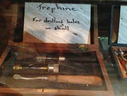 A used trephine from the elder generation's tools.