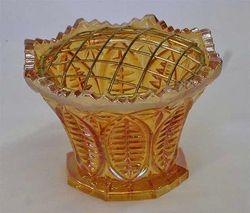 """African Shield 3"""" violet holder, marigold"""