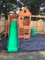 backyard discovery Pacific View swing set assembly in Alexandria Virginia