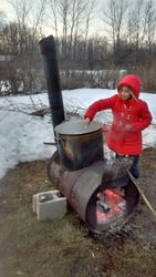 Maple syrup in the making!