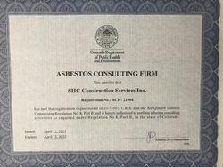 CDPHE ACF certificate
