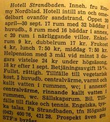 Hotell Strandbaden 1960