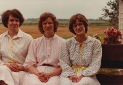 Mom with sisters, Becky & Mary