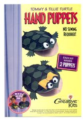 """Creative Kits"" hand puppets, Darice company (craft suppliers)"