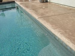 cantalever pool deck edge