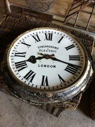 #17/084 Metal Rail Road Station Clock SOLD