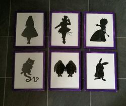 Alice in Wonderland silhouettes