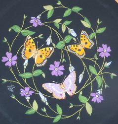 Butterflies and periwinkle