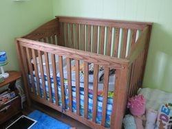 Oak Baby crib