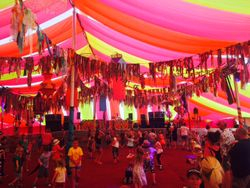 The beautiful Bollywood Tent at Camp Bestival 2015