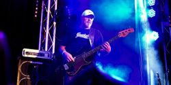 Gene the Mountain on bass
