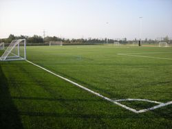 3G Astroturf pitches side view