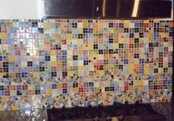 Contemporary splash back mosaic design
