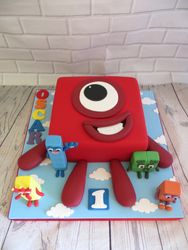 Number Blocks Birthday Cake