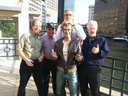 Paul and The Fonz at a sales meeting