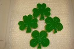 $3 each shamrocks and four leaf clovers
