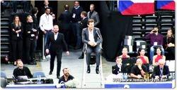 Tomas Berdych as a chair umpire