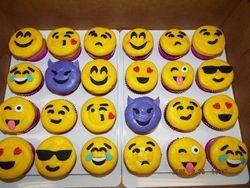 emoji cupcakes $3.50 each