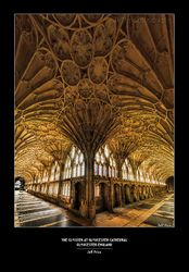 The Cloister at Gloucester Cathedral, c1350 Gloucester, England