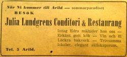 Julia Lundgrens konditori 1937