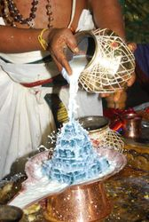 Milk Abishekam to Sri Maha Meru