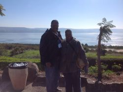 1st G and Pastor near the Sea of Galilee at Sermon on the Mount