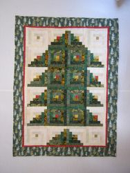Log Cabin Christmas Tree Quilt