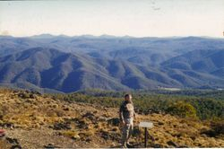 1997 the view from Mt Aggie looking over Perkins Flat (Henning)