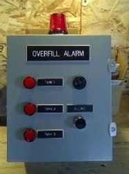 multi-tank overfill alarm