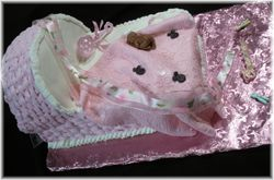 Pink and white Bassinet Cake