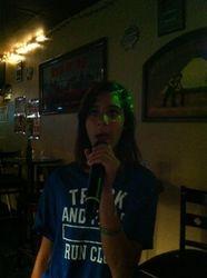 Tiana expressing herself at 502 Bar Lounge!