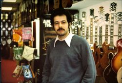 friend and music store owner Joe at Silverton music.