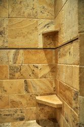 Travertine Shelf and Seat
