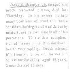 Brumbaugh, Jacob 1894