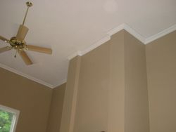 After crown moulding vaulted ceilings