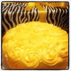 Lemon Rose Swirl Cake