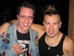 Karl (left) with Jesse Blaze Snider
