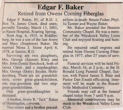 Baker, Edgar F. 2001