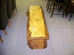 house bench made to order, Douglas Fir, natural edge